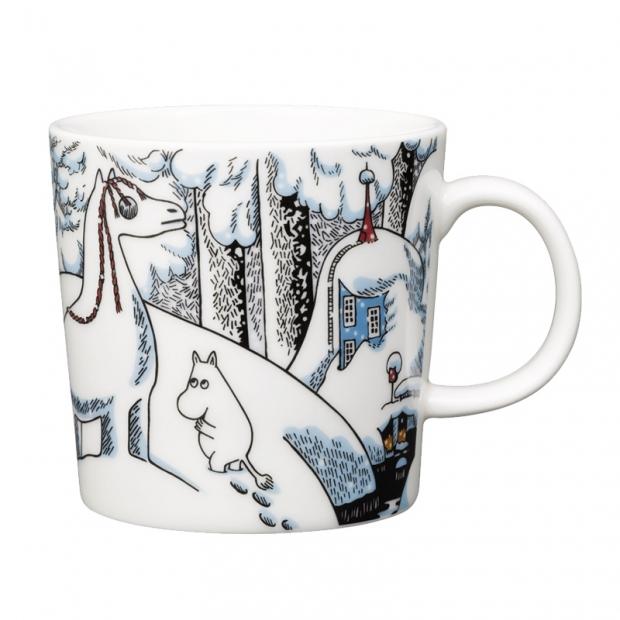 Hrnek Moomin Snow Horse 0,3l, bílý