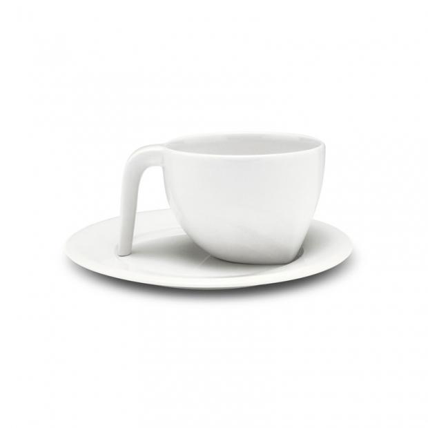 Šálek na espresso s podšálkem Ego 0,1l, bílý