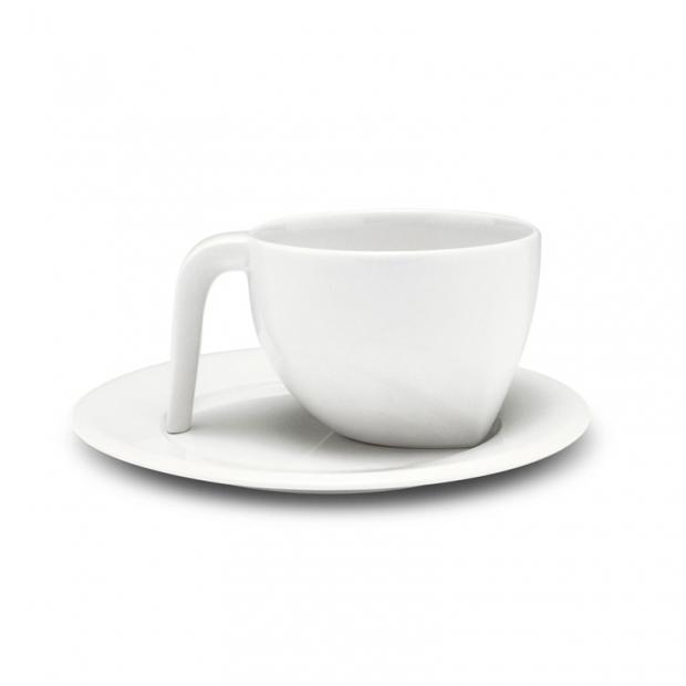 Šálek na kávu s podšálkem Ego 0,21l, bílý