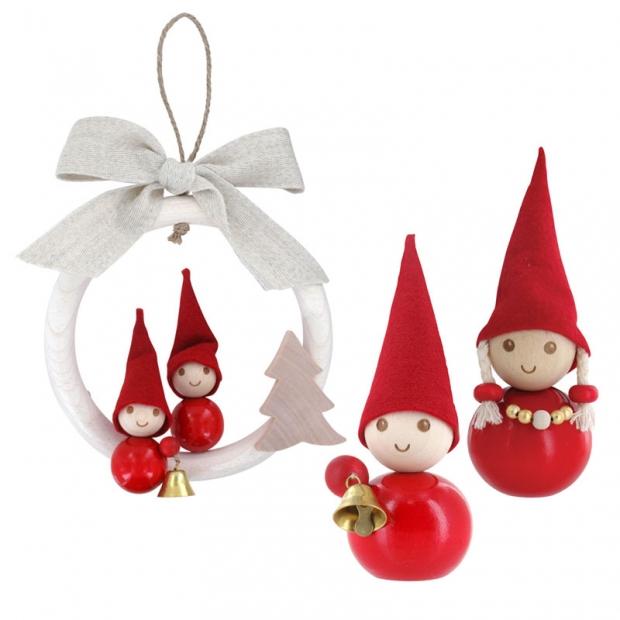 Sada vianočných škriatkov, červená