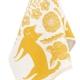 Utěrka Koira ja Kissa 48x70, bílo-oranžová