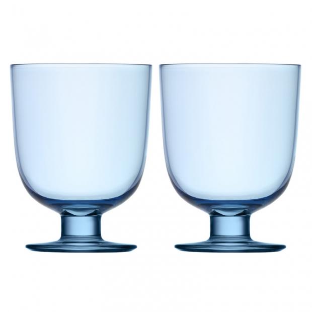 Sklenice Lempi 0,34l, 2ks, světle modré