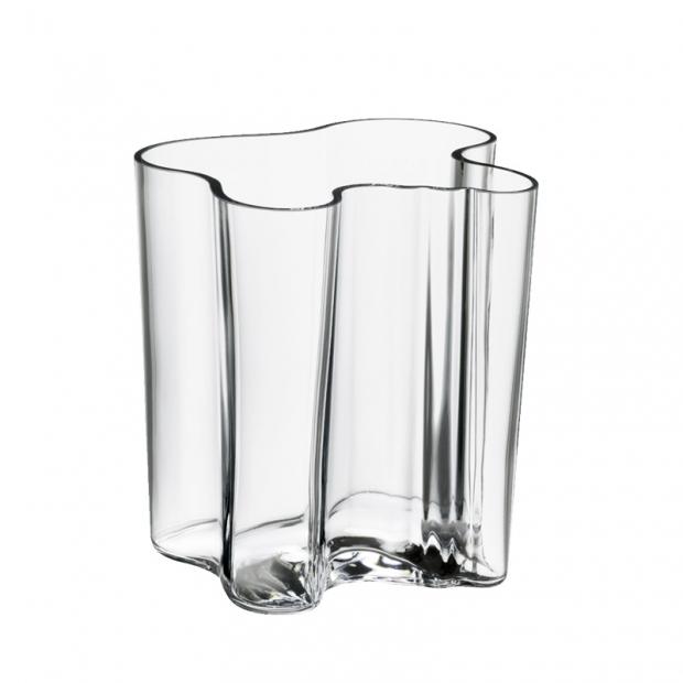 Váza Alvar Aalto 200mm, čirá