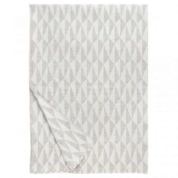 Lněná deka Triano 140x200, len-bílá