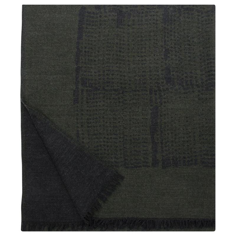 Vlněná deka Mesi 140x180, tmavě zelená