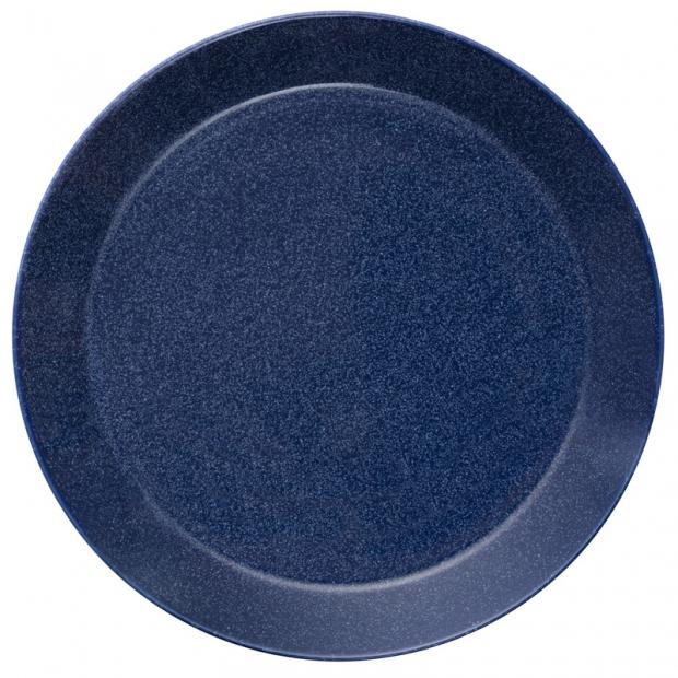 Talíř Teema 26cm, modrý s tečkami