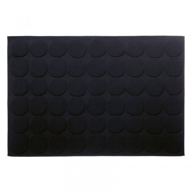Koupelnová předložka Pienet Kivet, černá