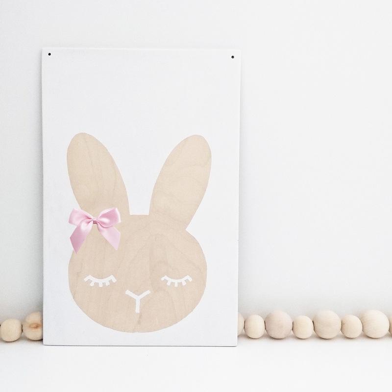 Plakát Bunny 20x30cm, bříza / bílý