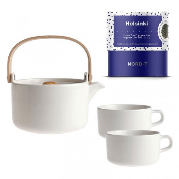 Set čajové súpravy Oiva a sypaného čaju Helsinki