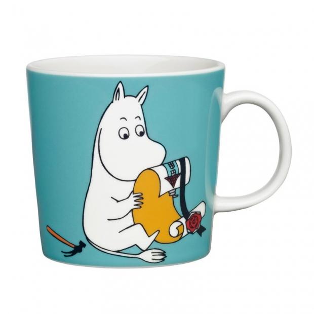 Hrnek Moomintroll 0,3l, tyrkysový