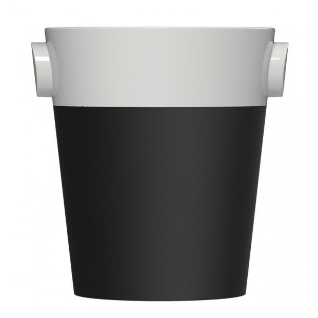Chladiaca nádoba na Champagne, čierno-biela