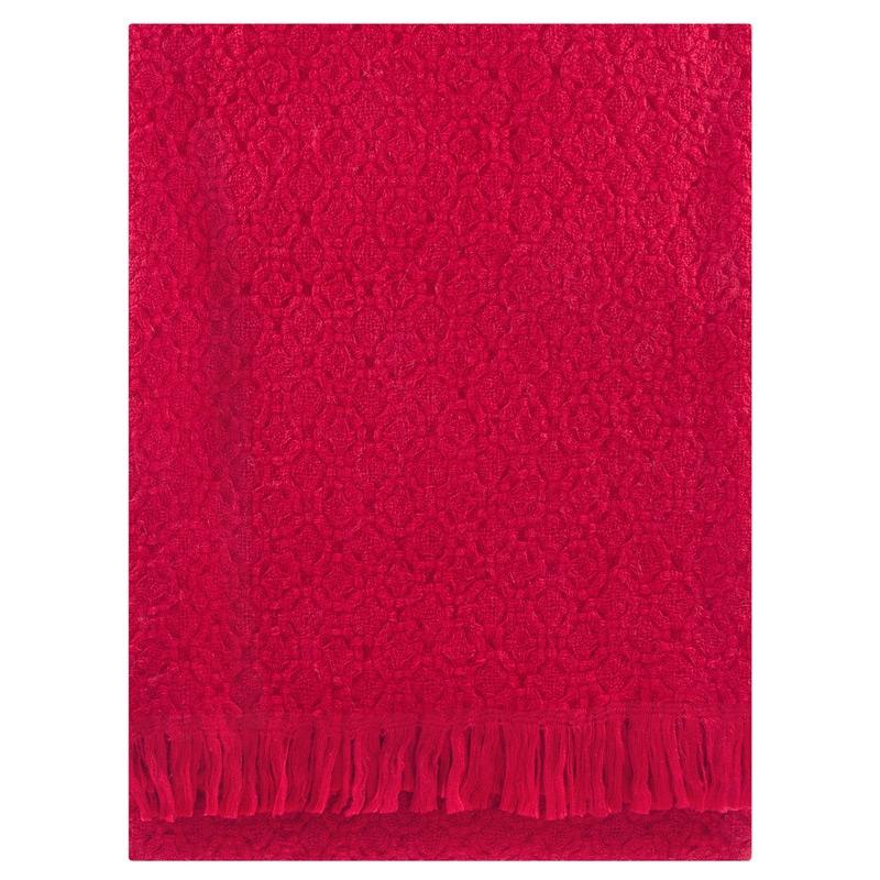 Vlněná deka Corona Uni 130x170, červená