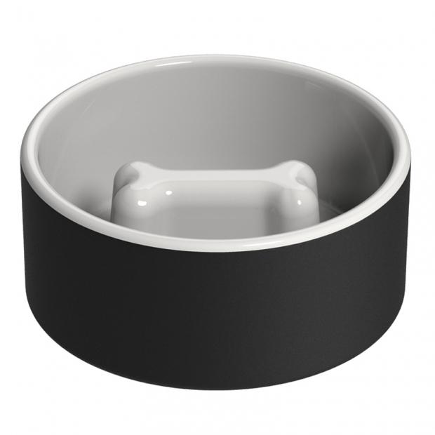 Chladicí miska pro psy proti hltání L, černá