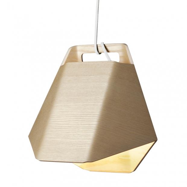 Závěsná lampa Alma, jasan