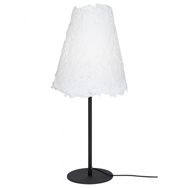Stolná lampa Frost, čierny podstavec