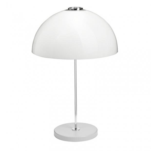 Stolná lampa Kupoli, sivá