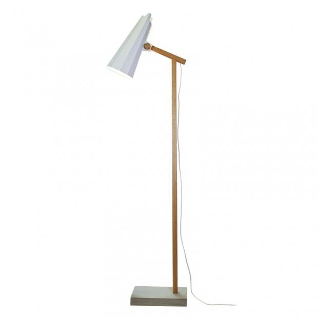 Stojacia lampa Filly, krátke rameno / biela