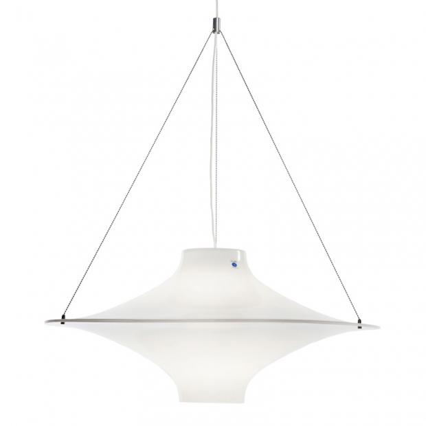Závesná lampa Lokki 700, biela