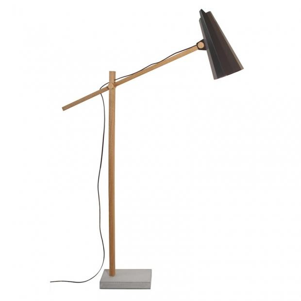 Stojací lampa Filly, dlouhé rameno / černá