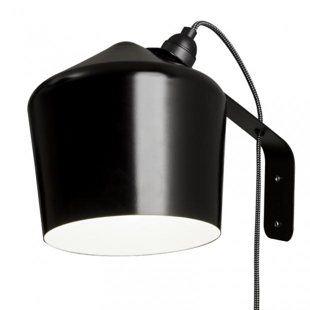 Nástenná lampa Pasila, čierna