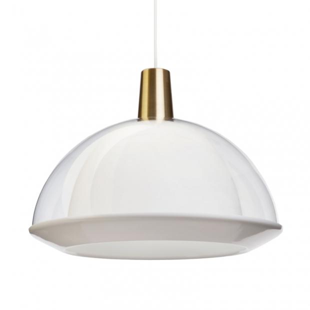 Závěsná lampa Kuplat 400, čirá