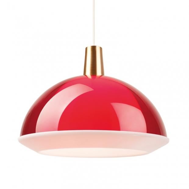 Závěsná lampa Kuplat 400, červená