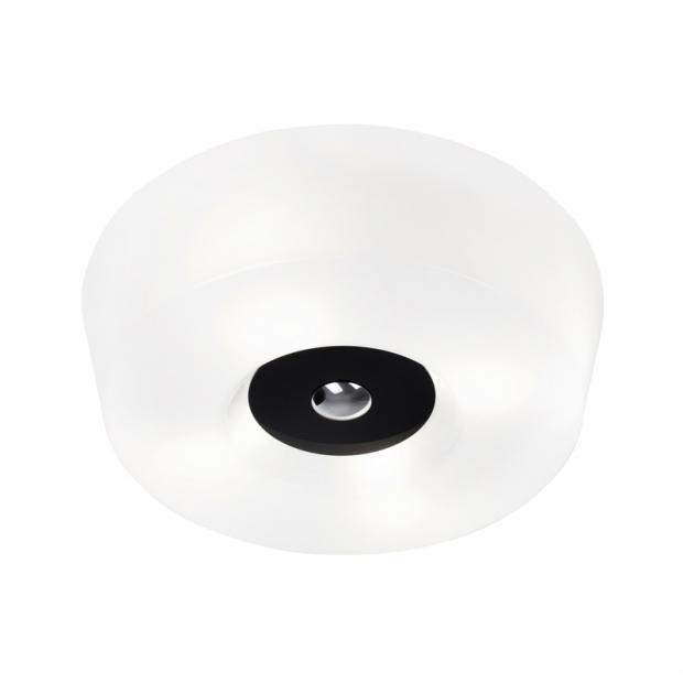 Stropná lampa Yki 390, čierna