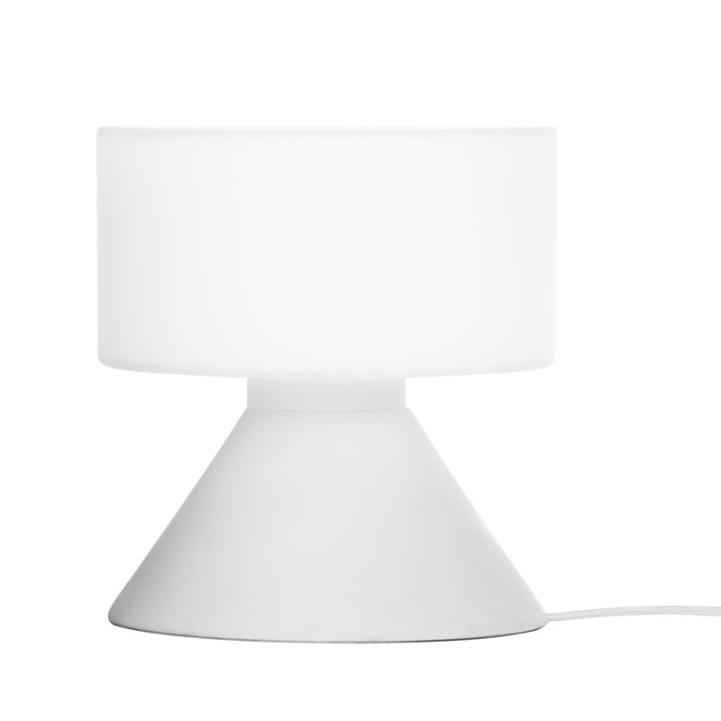 Stolná lampa Concrete, biela