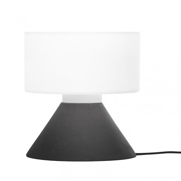 Stolná lampa Concrete, čierna