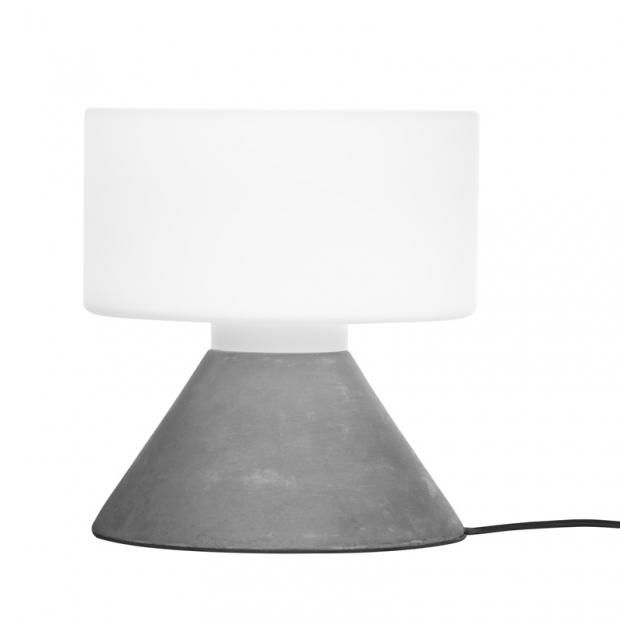 Stolná lampa Concrete, sivá