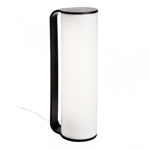 Stolná lampa Tubo, čierna