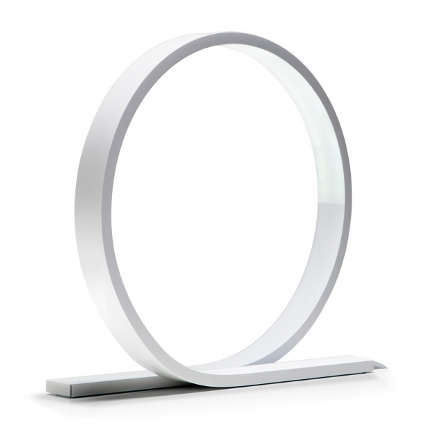Stolná lampa Loop, biela