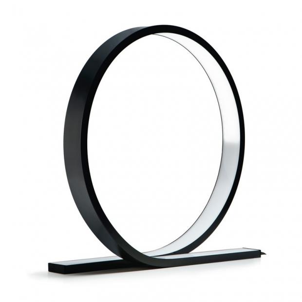 Stolná lampa Loop, čierna