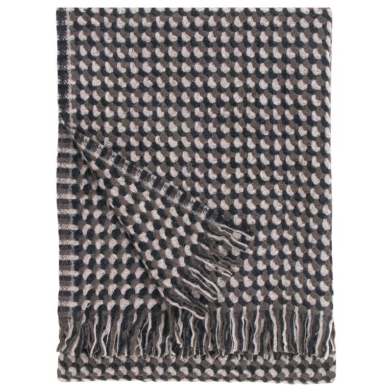 Vlněná deka Alva 130x170, hnědá