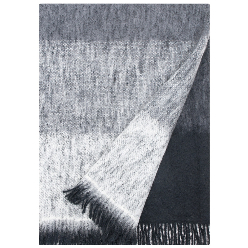 Mohérová deka Sumu 130x170, šedá