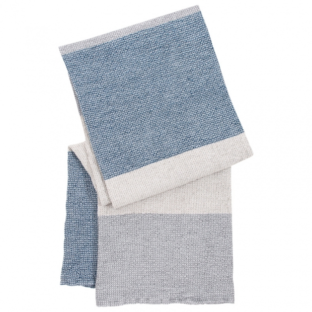 Osuška Terva 85x180, bielo-sivo-modrá