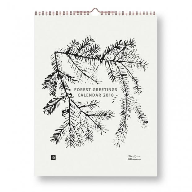 Kalendář 2018 Forest Greetings 30x40