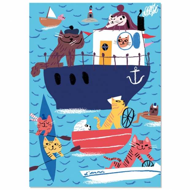 Plakát Seacats 50x70