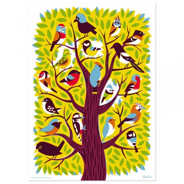 Plagát Bird Tree 50x70