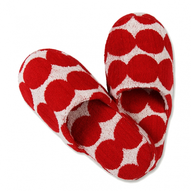 Pantofle do sauny Räsymatto S, červené