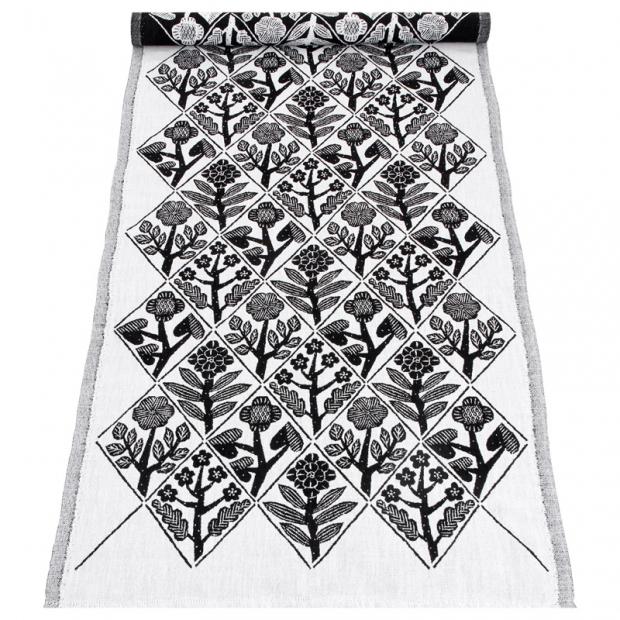 Behúň Kukat 48x150, bielo-čierny