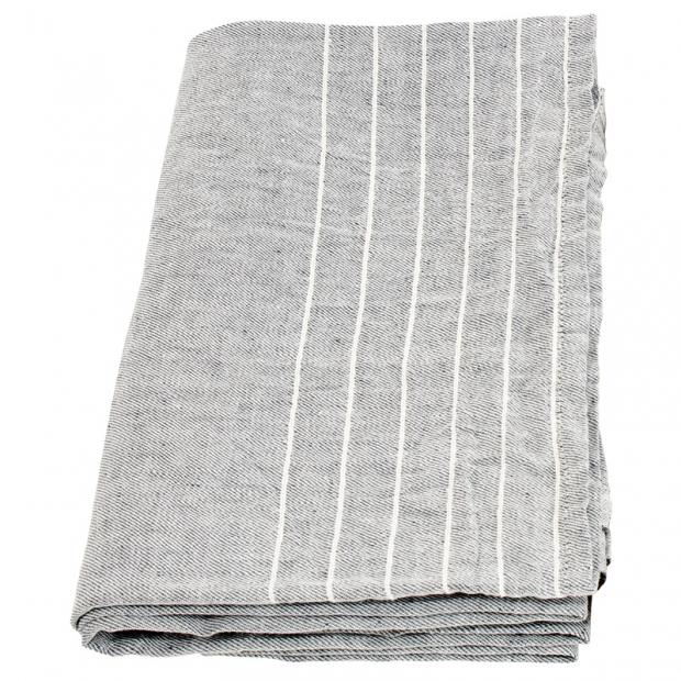 Osuška Kaste 95x180, šedo-bílá