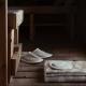 Pantofle do sauny Onni S, lněné