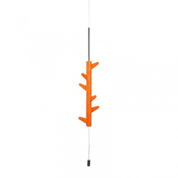 Závěsný věšák na zeď Oka, 6 háčků / oranžový
