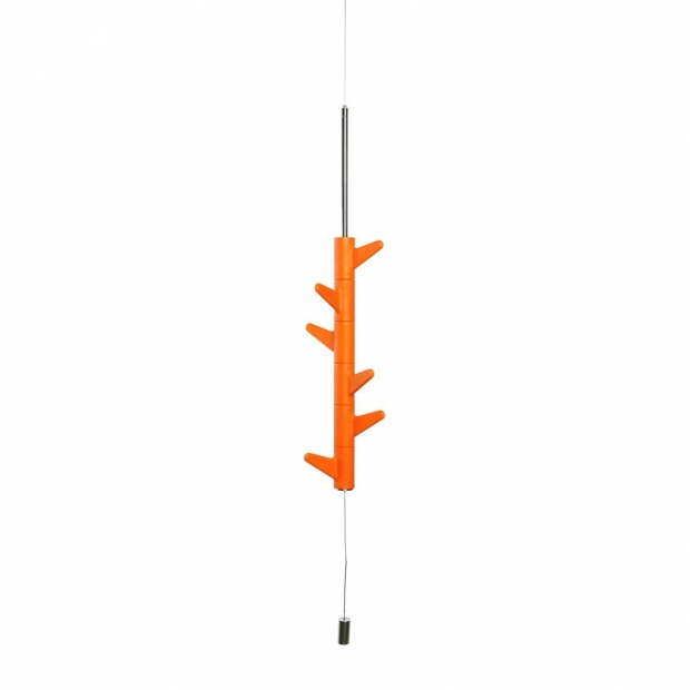 Závěsný věšák Oka, 6 háčků / oranžový