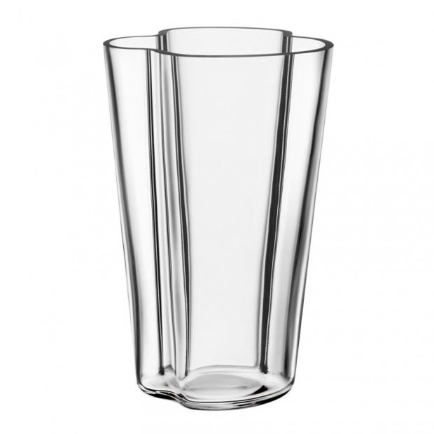 Váza Alvar Aalto 201mm, čirá