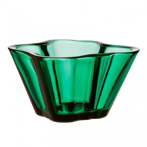 Miska Alvar Aalto 75mm, smaragdová