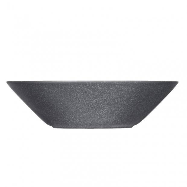 Hluboký talíř Teema 21cm, šedý s tečkami