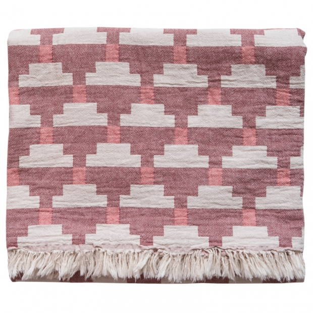 Bavlněná deka Confect 130x170, bordová