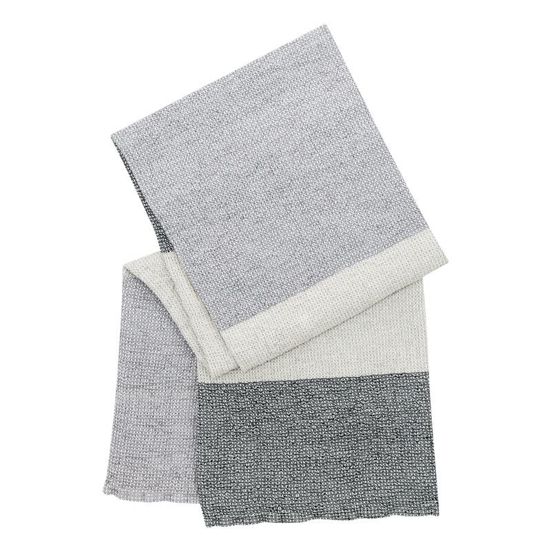 Osuška Terva 85x180, šedo-bílá